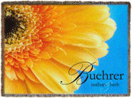 yellow daisy personalized throws
