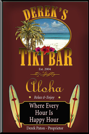 Tiki Bar sign, personalized bar signs