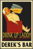 Vintage Drinking Laddy
