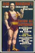 Vintage Strongman Sign